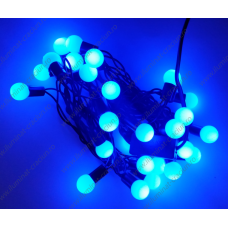 Instalatie Albastra Globulete 4M LED sir fir negru - interior