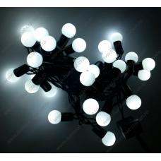 Instalatie Alba Globulete 4M LED sir fir negru - interior