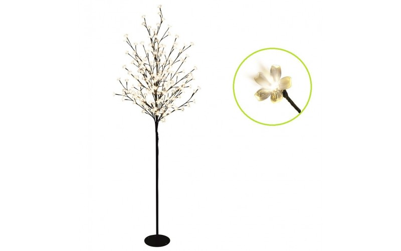 Pom luminos cu LED floare Cires 200cm alb cald 230V CBT 320