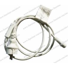 Cablu de alimentare alb 1.5m cu stecher 30-191500 gama S-OUT