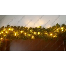 Decoratiune Ghirlanda Luminoasa din Brad artificial si LED-uri 270cm