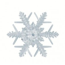 Decor pentru fereastră cu LED, fulg de zăpadă, cu ventuză, 3V