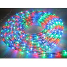 Cablu luminos Led multicolor rola 10 metri 3 fire