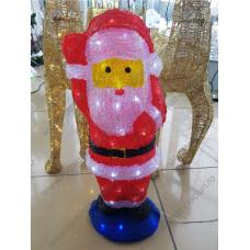 Figurina luminoasa din acril Mos Craciun cu LED