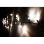Instalatie Alb Cald 8M 100 LED sir fir negru - interior
