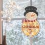 Decor lemn pentru ușă, fereastră, om de zăpadă KLW 21 S