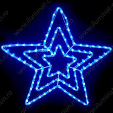 Stea tripla din cablu luminos LED Albastru D70 Global